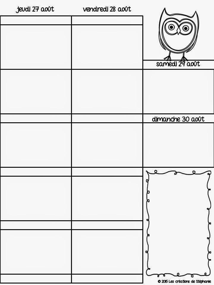 Les créations de Stéphanie: ~ Mon guide planificateur 2015-2016 ~