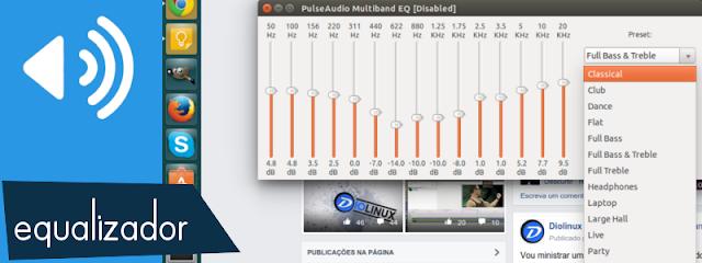 Equalizador de som para Ubuntu