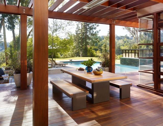 Wooden outdoor terrace