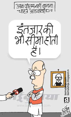 bjp cartoon, election 2014 cartoons, indian political cartoon, lal krishna advani cartoon