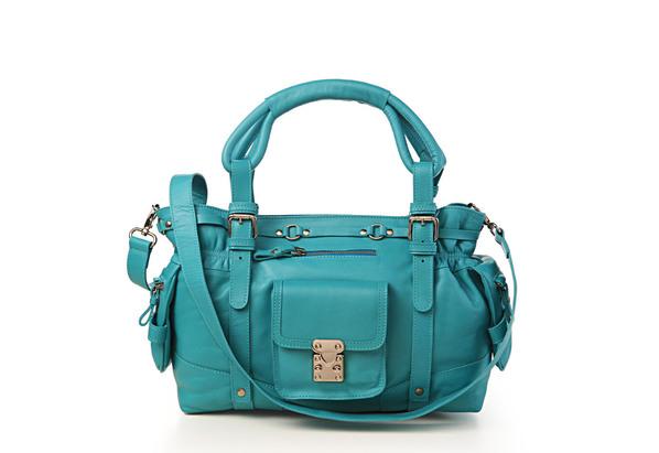 Bolsa Feminina Azul Turquesa : Bru mar?o