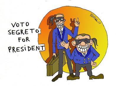 Nella Repubblica del voto segreto - Vignetta