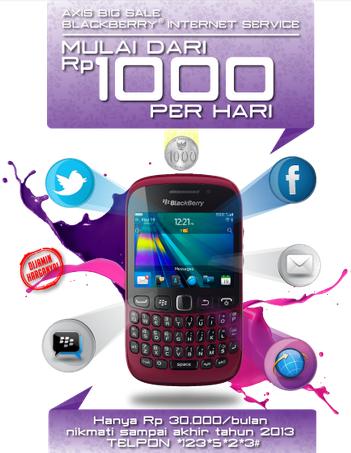 Daftar Paket Blackberry Axis Mulai Rp.1000 per Hari