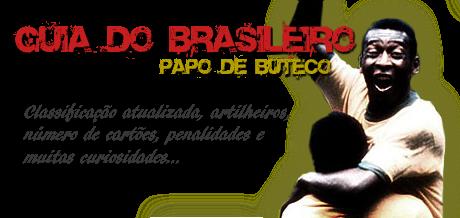 Guia do Brasileiro completo, números da rodada, número de penaltis, cartões vermelhos e amarelos