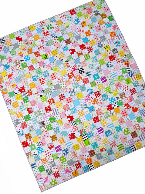 Low Volume Checkerboard Quilt - Red Pepper Quilts