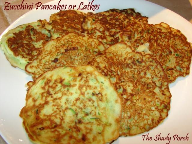 Zucchini Pancakes or Latkes garden harvest recipe