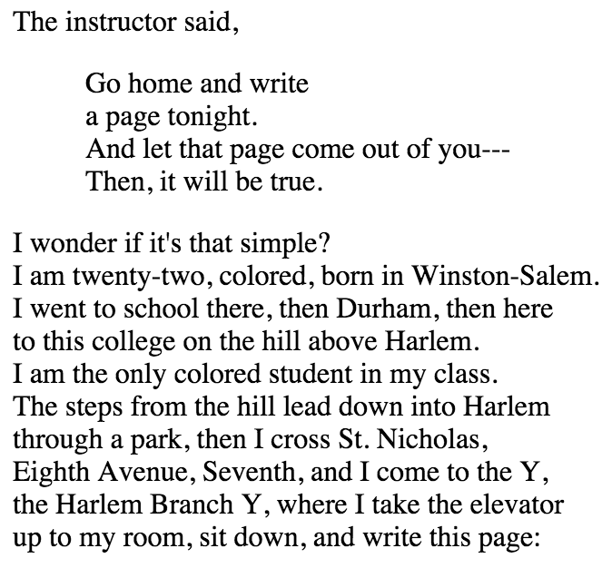 """langston hughes' """"theme for english b Langston hughes was first recognized as an important literary figure during the 1920s, a period known as the harlem renaissance because of the number of emerging black writers."""
