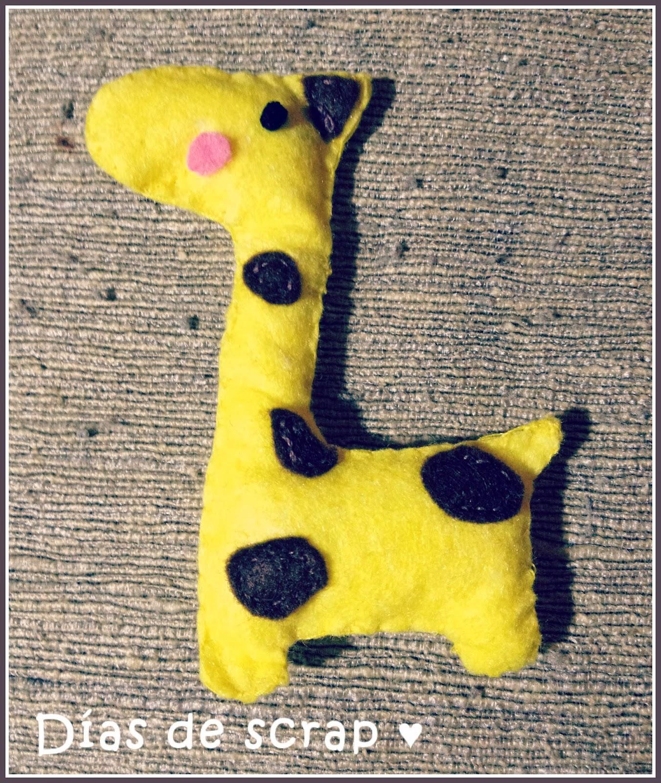 scrap fieltro jirafa