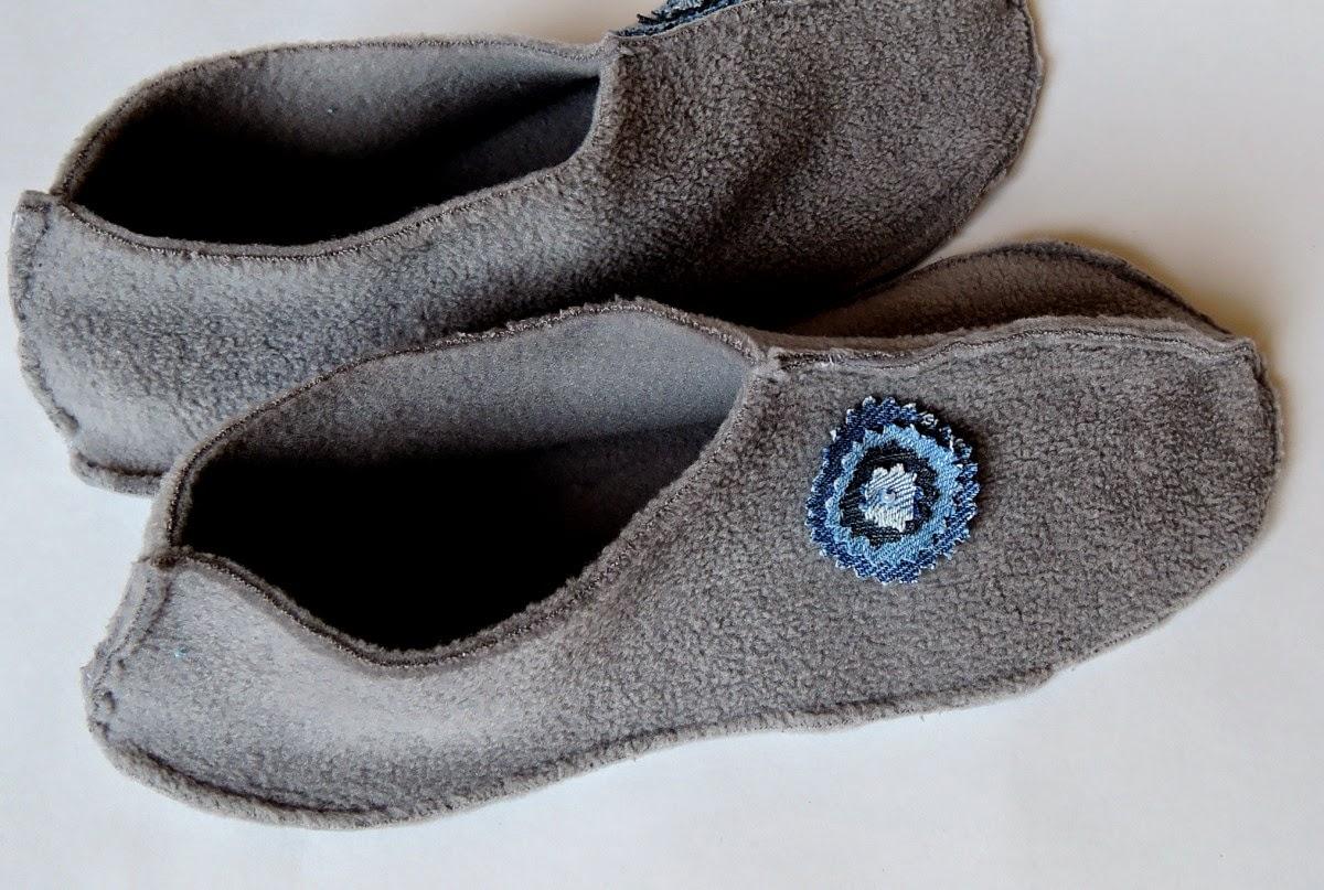 домашняя обувь из флиса