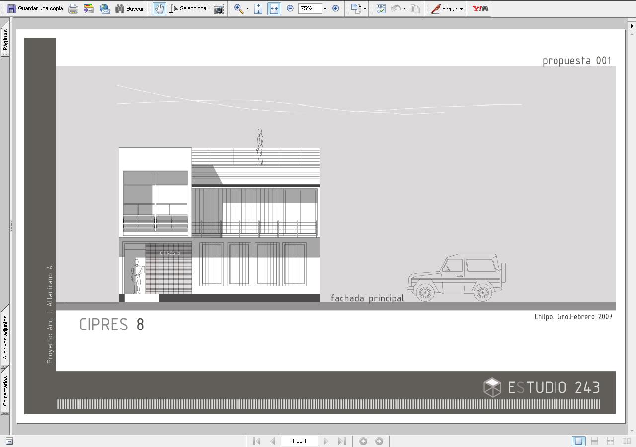 Planos arquitectonicos sena vistas for Planos de fachadas