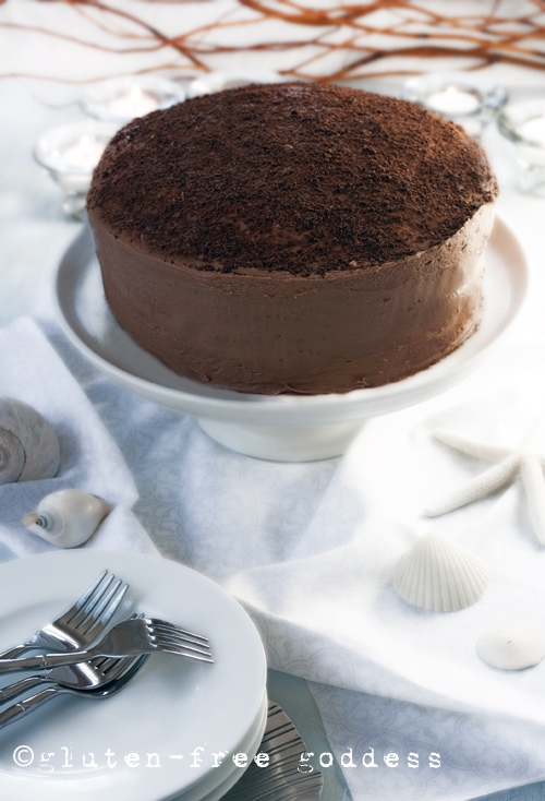 Gluten-Free Chocolate Layer Cake (dairy-free) from Gluten-Free Goddess #glutenfree #cake