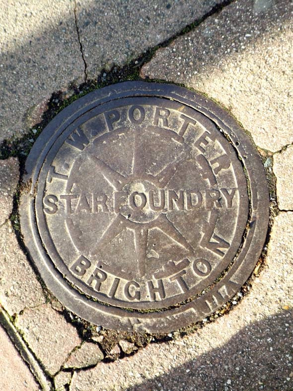 coal hole cover brighton star foundry t w porter