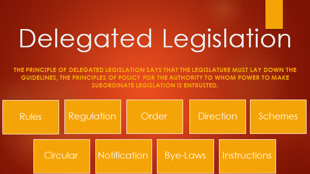 delegated legislation 2 essay Australian law: delegated legislation/ authorities essay delegate, or pass on the power to make laws in certain areas, to lesser authorities the subsequent laws are.