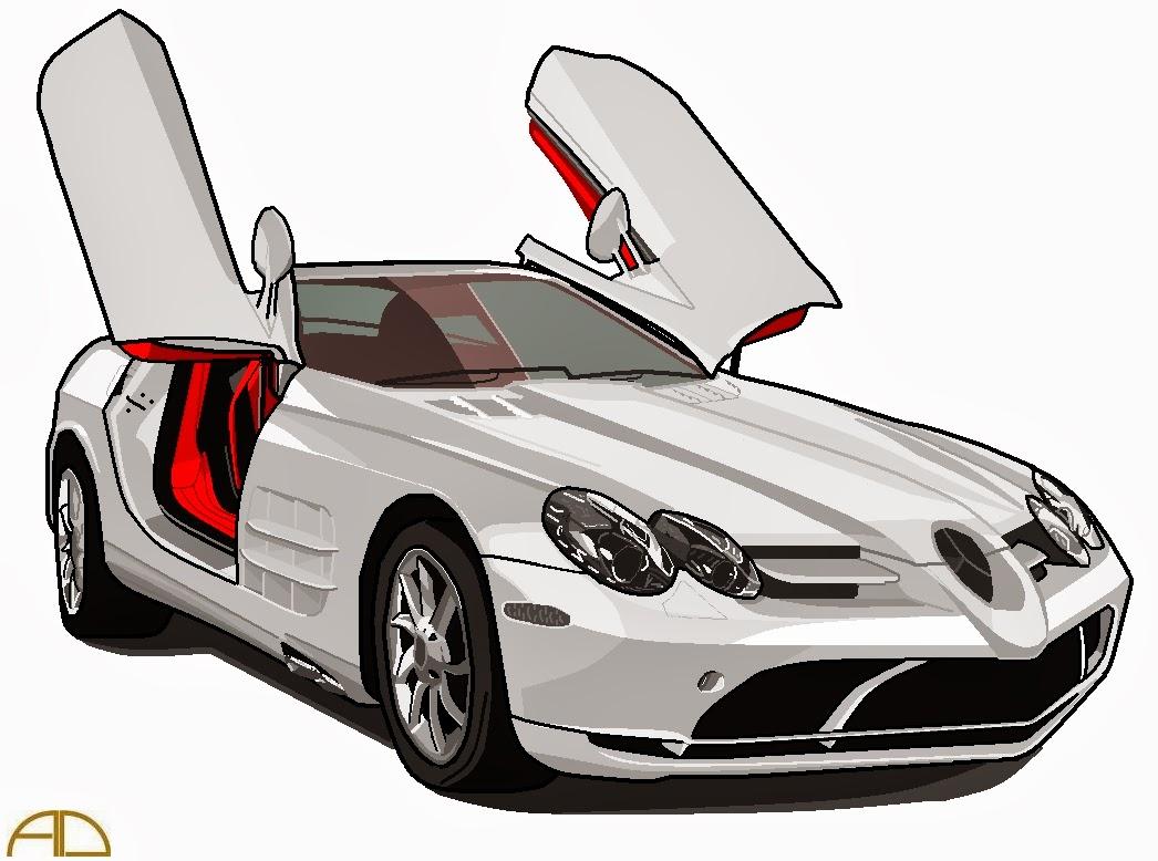 Mercedes Benz Slr Mclaren Black Convertible SeleOfficialART: Merce...