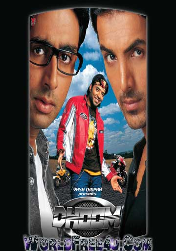 Poster Of Hindi Movie Dhoom (2004) Free Download Full New Hindi Movie Watch Online At worldfree4u.com