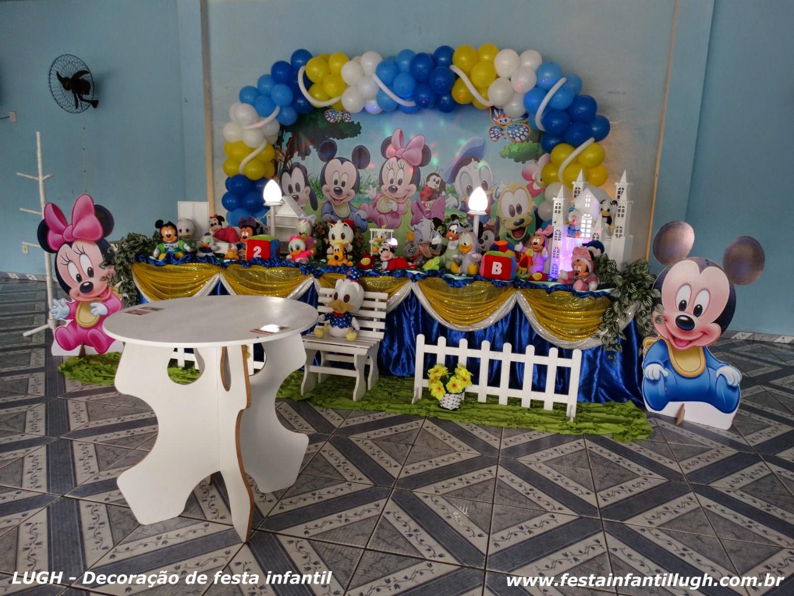 Baby Disney - decoração de festa de aniversário infantil com temas para meninos e meninas