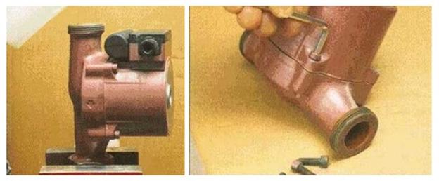 Вид циркуляционного насоса двигателя систем отопления