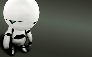 The Hitchhikers Guide to the Galaxy Marvin the Paranoid Android Wallpaper in HD
