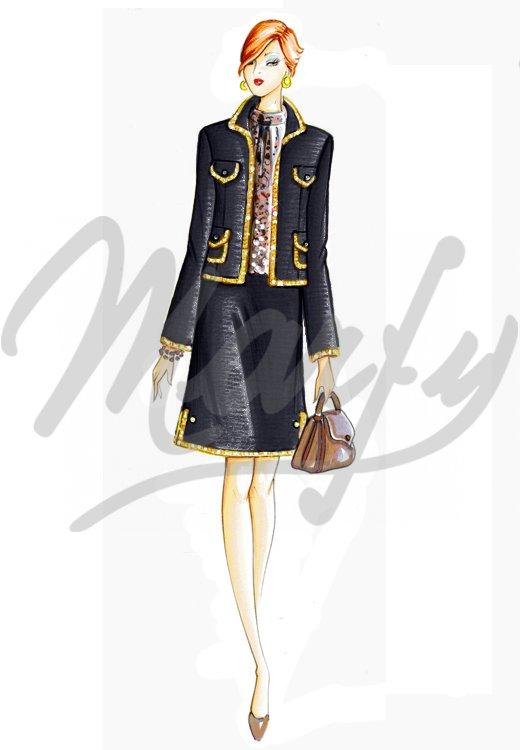 3 Patrones gratis de Marfy : falda, chaqueta y top | contra la ...