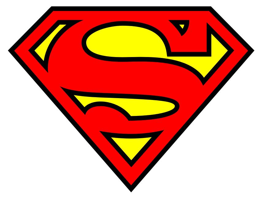 Lotipo de Superman - Muestra una ESE inscrita en un polígono pentaonal en forma de diamante