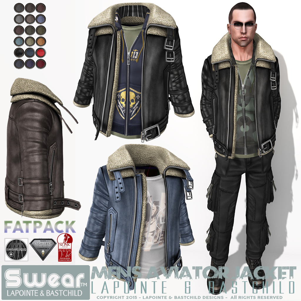 Leather jacket aesthetic - Men S Aviator Leather Jackets Full Color Sets