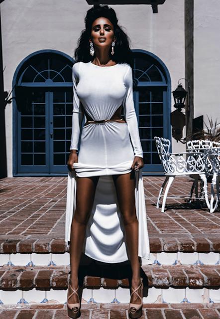 white dress Lilly Ghalichi