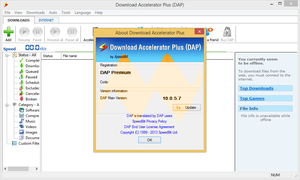 Old Version of Download Accelerator Plus for Windows 8 Download
