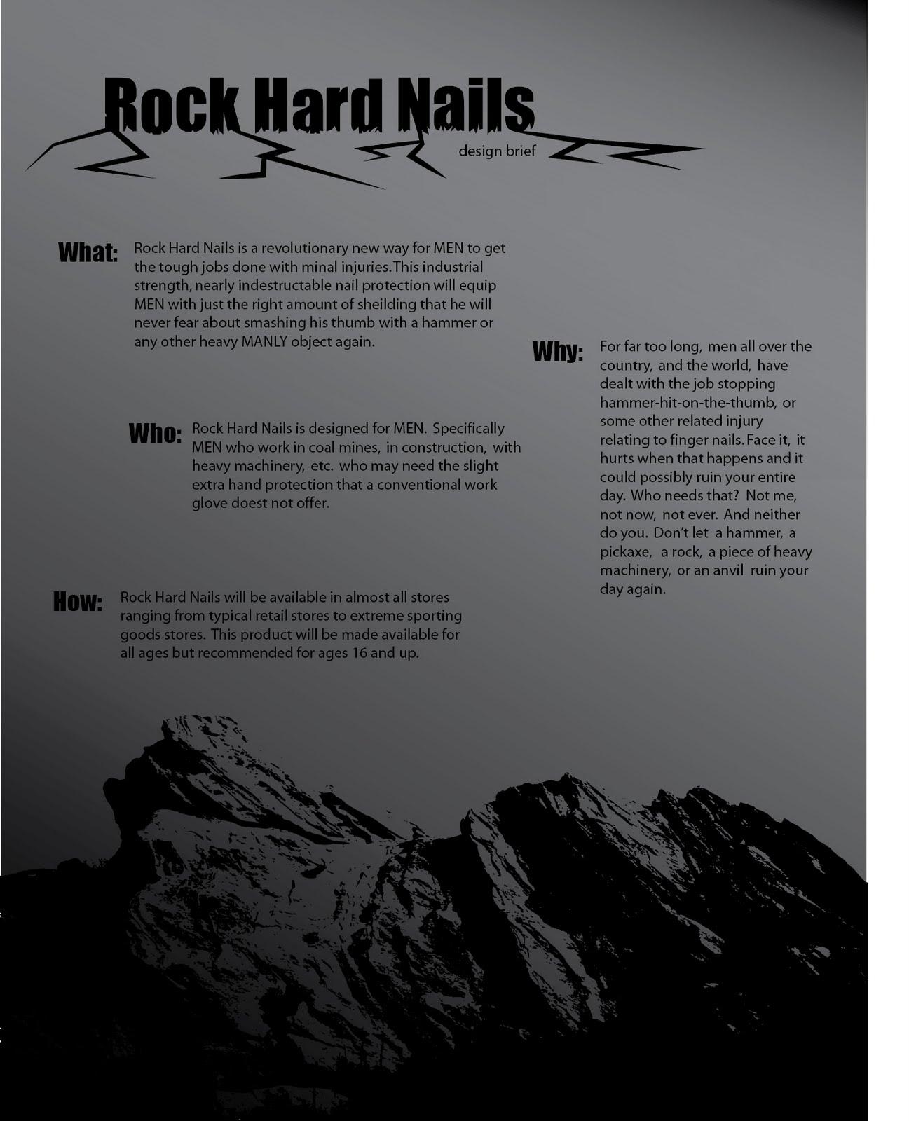 CSUSB Design 2 Spring 2011: Rock Hard Nails - Yes it\'s nail polish ...