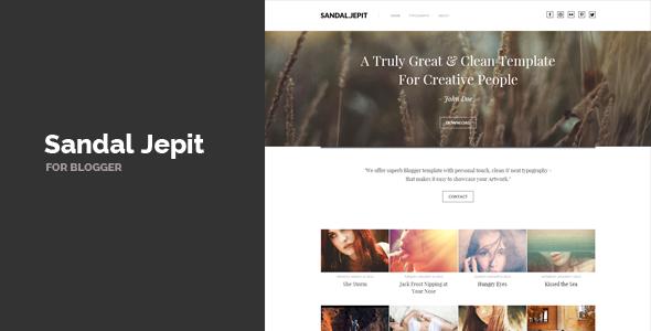 Sandal Jepit Blogger Template