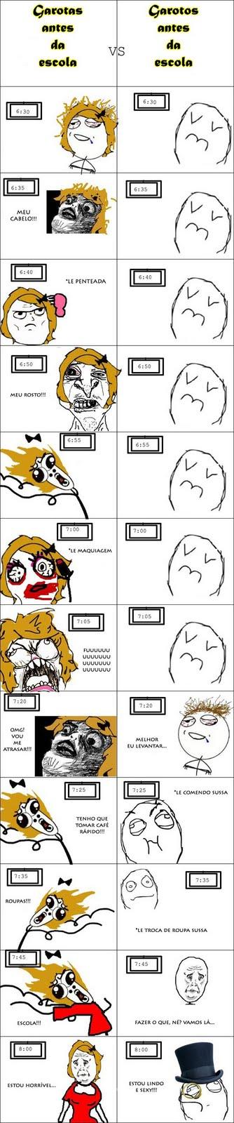 Garotas vs Garotos: Escola