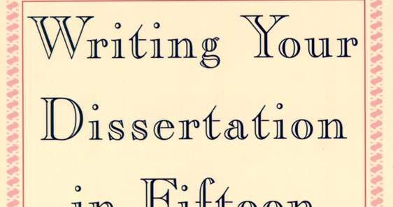 Writing Your Dissertation Swetnam