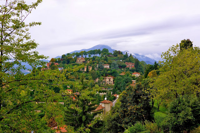 Image of a hill near Bergamo, Italy.