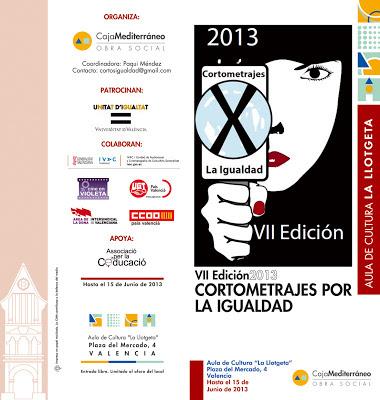 VII Edición Cortometrajes por la Igualdad 2013