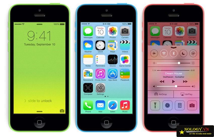 màn hình chính của iPhone 5C