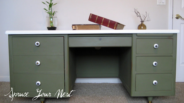 chalk paint, Annie Sloan, desk makeover
