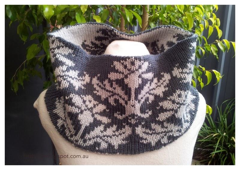 Double Knitting Kitchener Stitch : FitzBirch Crafts: Honeymoon Cowl
