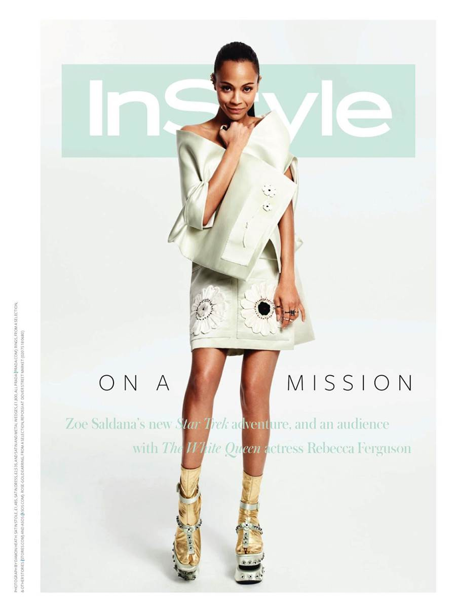 Zoe Saldana Instyle Uk Magazine June 2013