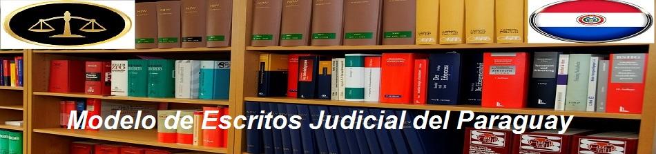 Modelo de Escritos Judicial del Paraguay