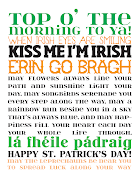 FREE PRINTABLESt. Patrick's Day Subway Art. Dress up your home, office, .