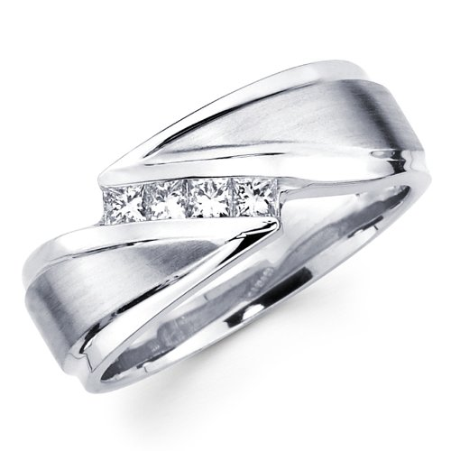 Wedding Bands For Couple 33 Spectacular White Gold Princess Diamond