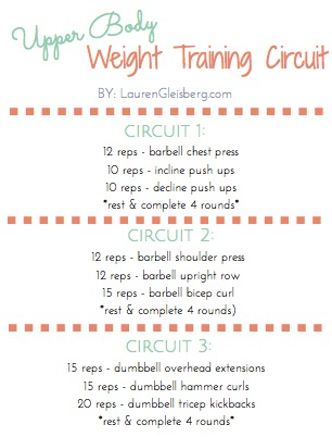 Upper Body Circuit 11