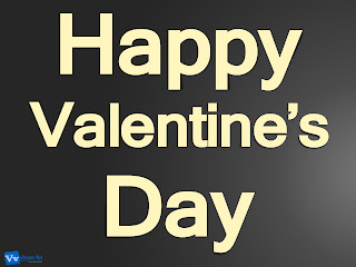 Happy Valentine's Day Text Simple HD Wallpaper Dark Grey