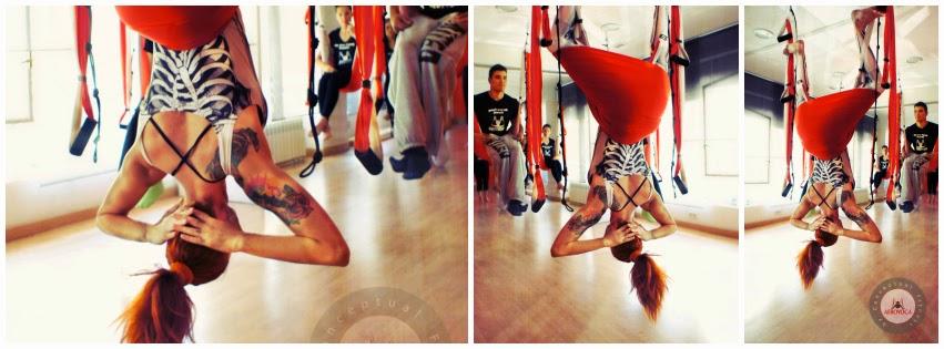 aerial yoga sirsasana