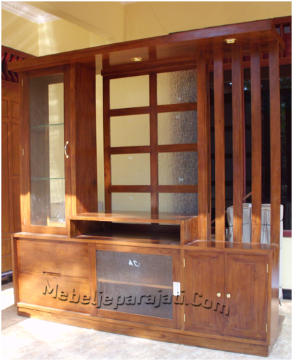 Model Furniture minimalis almari partisi hias