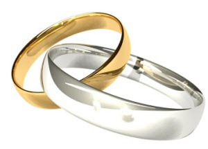 interlocking wedding ring, interlocking weddings rings photo
