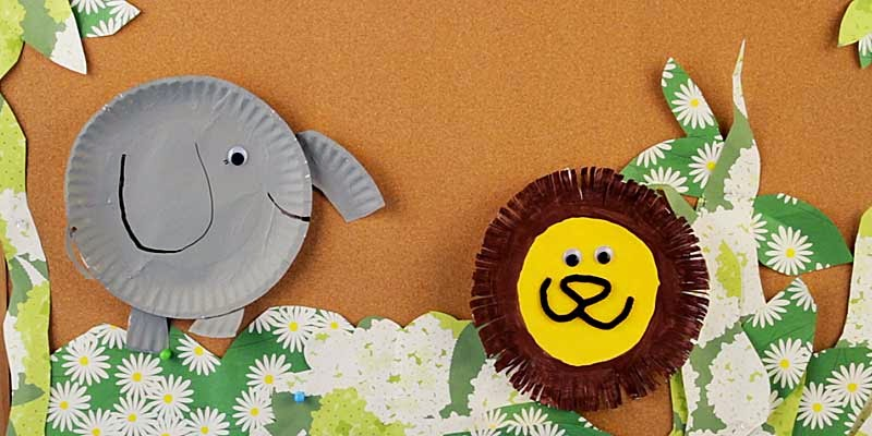 Paper Plates Animal Craft For Kids Arts And Crafts Ideas Projects