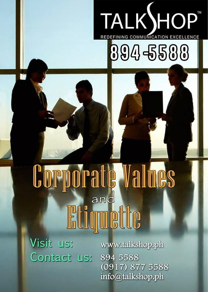 TalkShop Corporate Values and Etiquette Training