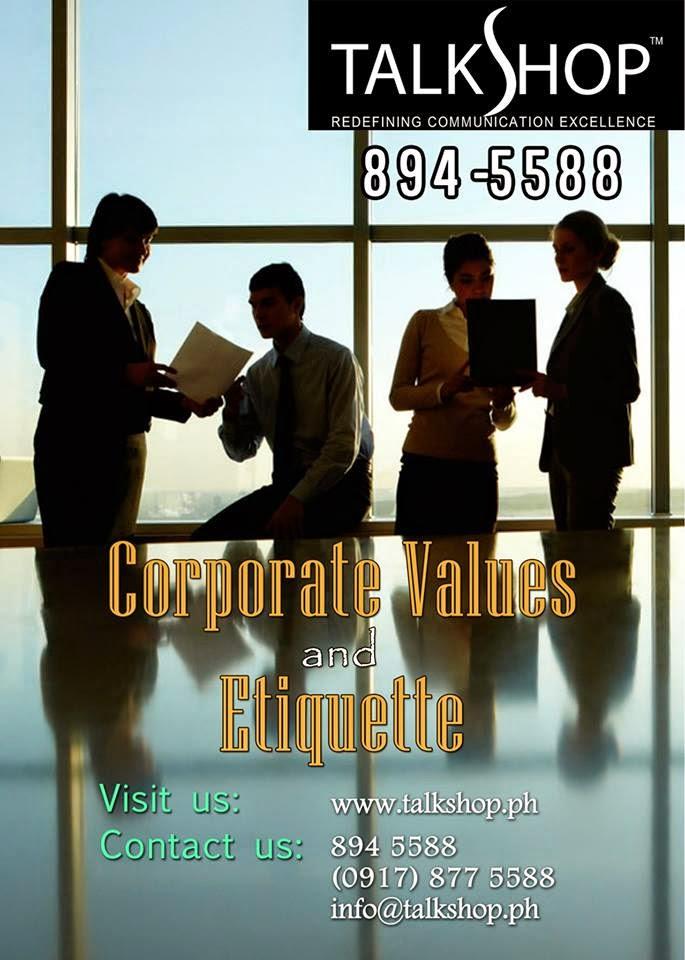 TalkShop Corporate Values and Etiquette Training