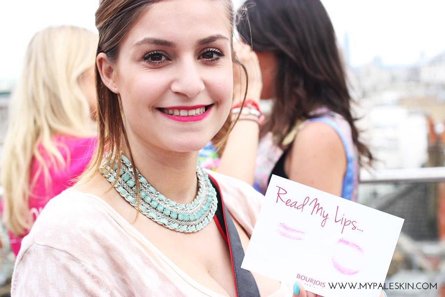 #bourjoissummer bourjois paris product launch rouge edition velevet lipstick swatch my pale skin April todd Beautiface blog