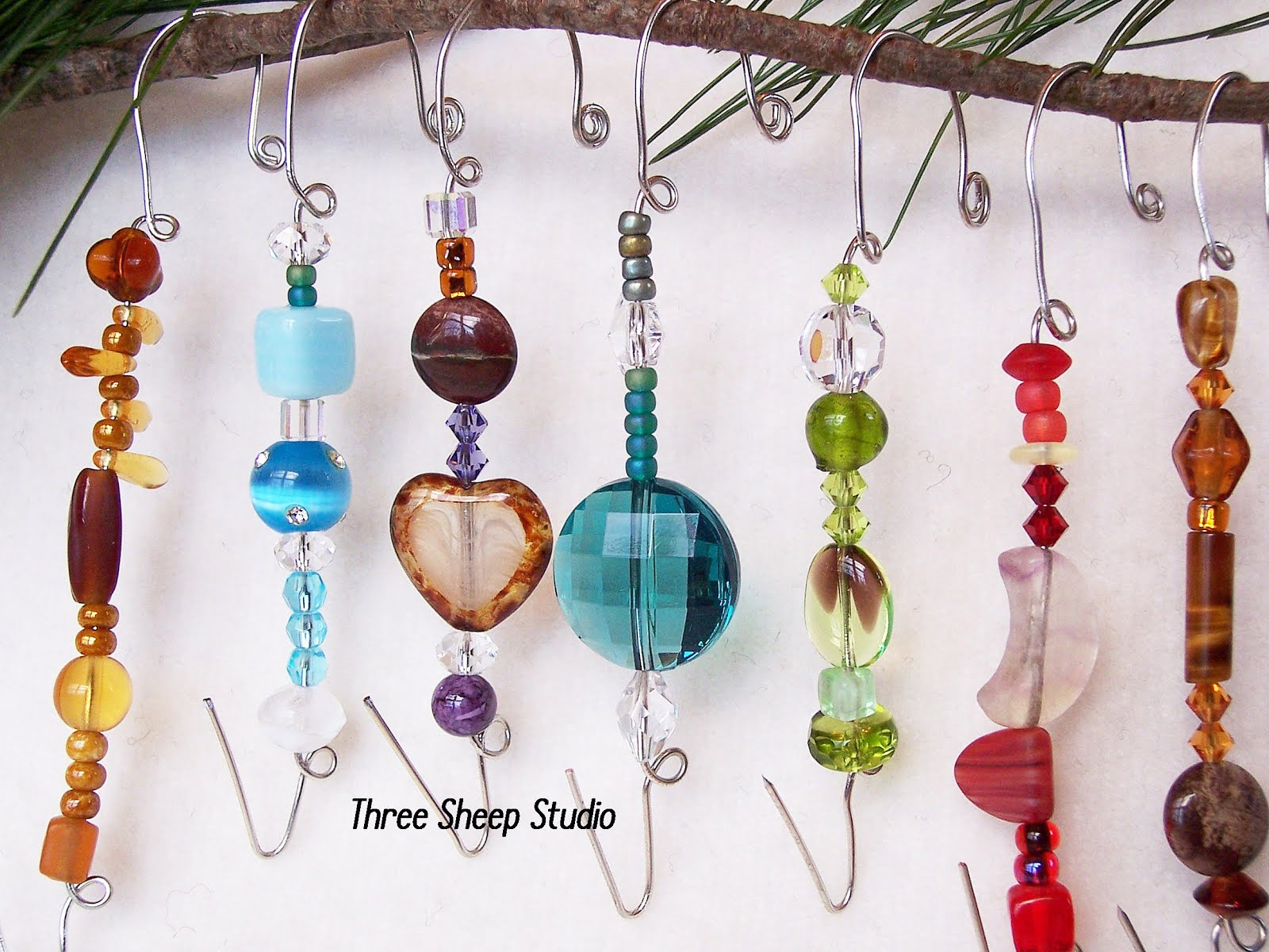 Glass Beaded Ornament Hangers...